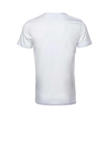 New Balance Erkek New Balance Logo Tee Tişört MPT028-WT015 Beyaz